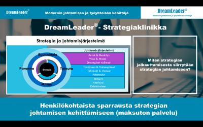 Strategia on kuvattu, mutta mitä sitten? Miten strategian jalkauttamisesta siirrytään strategian johtamiseen? Varaa maksuton (1h) henkilökohtainen valmennus.
